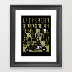 Signs of Faith - King of the Road Framed Art Print