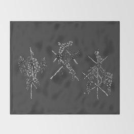 3 Grey Runes Throw Blanket