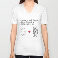 medical V-neck T-shirts featuring Medical Fact by Eat Yr Ghost