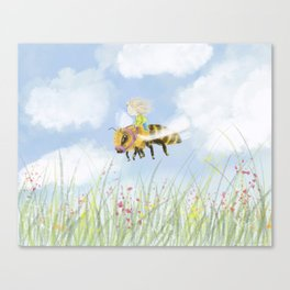 Just Buzzing About Canvas Print