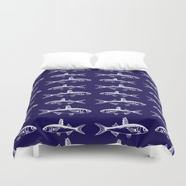Midnight Fish Duvet Cover