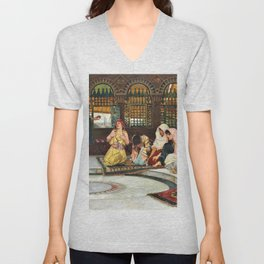 John William Waterhouse - Consulting The Oracle - Digital Remastered Edition Unisex V-Neck