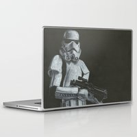 storm trooper Laptop & iPad Skins featuring Storm Trooper by HCobbler