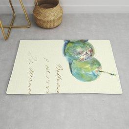 "Édouard Manet ""Letter (Lettre)"" Rug"