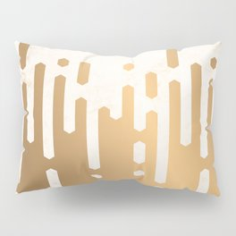 Marble and Geometric Diamond Drips, in Gold Pillow Sham