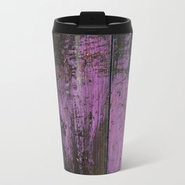 Purple Country Faux Barn Wood Travel Mug