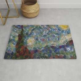 The Gourdy Night Starry Night Parody Rug