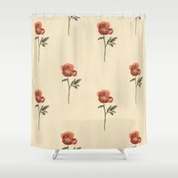 peony Shower Curtains featuring Peony by Megan Howe