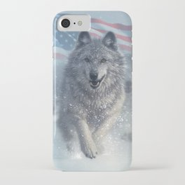 Running Wolves America iPhone Case