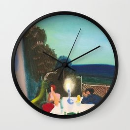The End of it All, a portrait by Lajos Gulácsy Wall Clock
