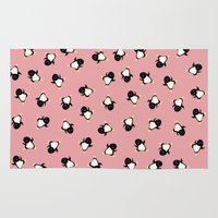 penguins Area & Throw Rugs featuring Penguins! by Kashidoodles Creations