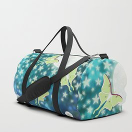 the moon, stars, luna moths, & dandelions Duffle Bag