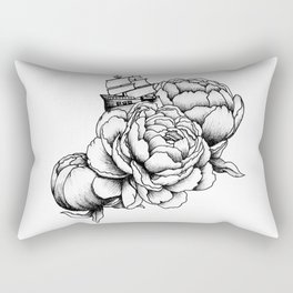 Sailing a Sea of Peonies Rectangular Pillow