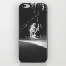 Minimalistic black and white waterfall iPhone & iPod Skin