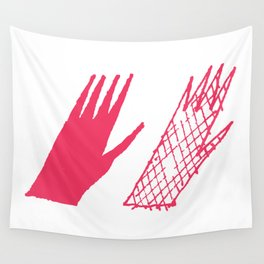 Hand and glove Wall Tapestry