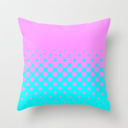 Pink to Blue Throw Pillow