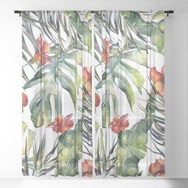 TROPICAL GARDEN 5 Sheer Curtain