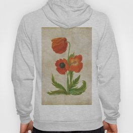 Vintage painting - Bunch of poppies Poppy Flower floral Hoody