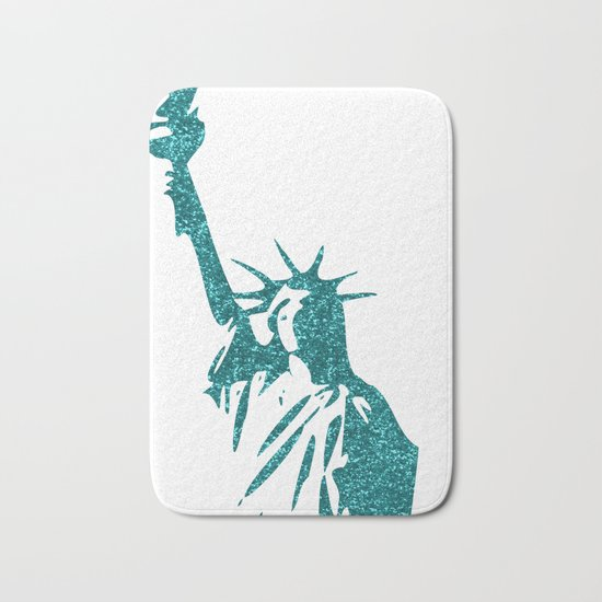 Statue of Glitter Bath Mat