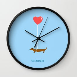 You Float My Weenie Wall Clock