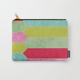 Patchwork Picket Fence Carry-All Pouch