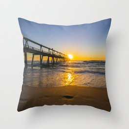 Southport Jetty at Sunrise Throw Pillow