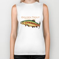 trout Biker Tanks featuring Golden Trout by MoosePaw