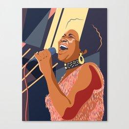 Aretha Franklin Portrait Canvas Print