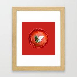 Rose globe Framed Art Print