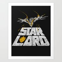 star lord Art Prints featuring Star-Lord by MeleeNinja