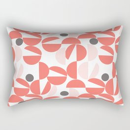 Living Coral Abstract Rectangular Pillow