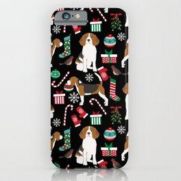 Beagle christmas gift wrap pillow phone case cute beagle dog design iPhone Case