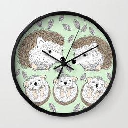 Hedgehogs Wall Clock