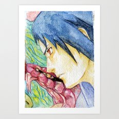 Sasuke Watercolor Art Print