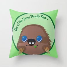 Adorable Sloth Throw Pillow