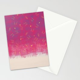 Abstract Beach Drapes Design Stationery Cards