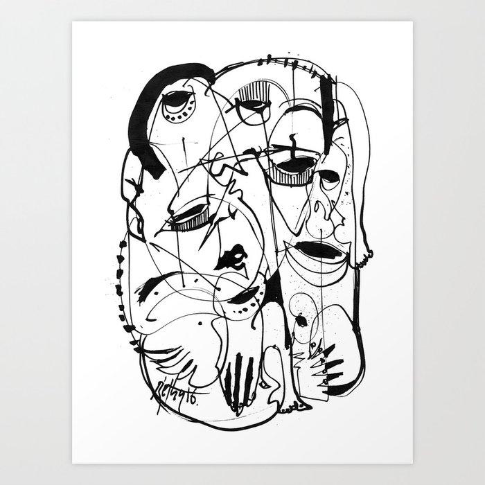 Transformation - b&w Art Print