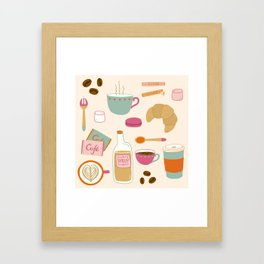 Drawing Coffee in a Café Framed Art Print