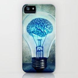 lightbulb brain shining iPhone Case