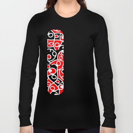 Maori Kowhaiwhai Patchwork Pattern Long Sleeve T-shirt