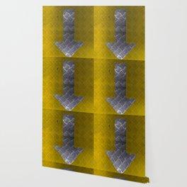 Industrial Arrow Tread Plate - Down Wallpaper