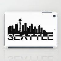seattle iPad Cases featuring Seattle by Allison Kiloh