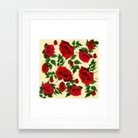 roses Framed Art Prints featuring roses  by mark ashkenazi