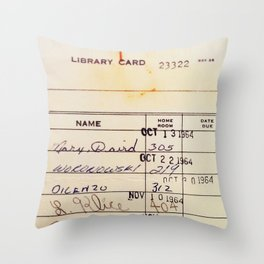 Library Card 23322 Deko-Kissen