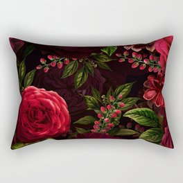 Vintage & Shabby Chic - Vintage & Shabby Chic - Mystical Night Roses Rectangular Pillow