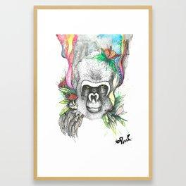 Wild Animals, Gorilla Shaman Framed Art Print