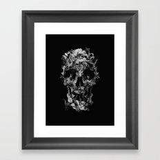 Jungle Skull B&W Framed Art Print