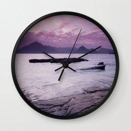 Elgol Beach III Wall Clock
