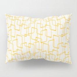Reverse Yellow Retro Geometric Pattern Pillow Sham