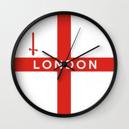 london city england country flag name text Wall Clock